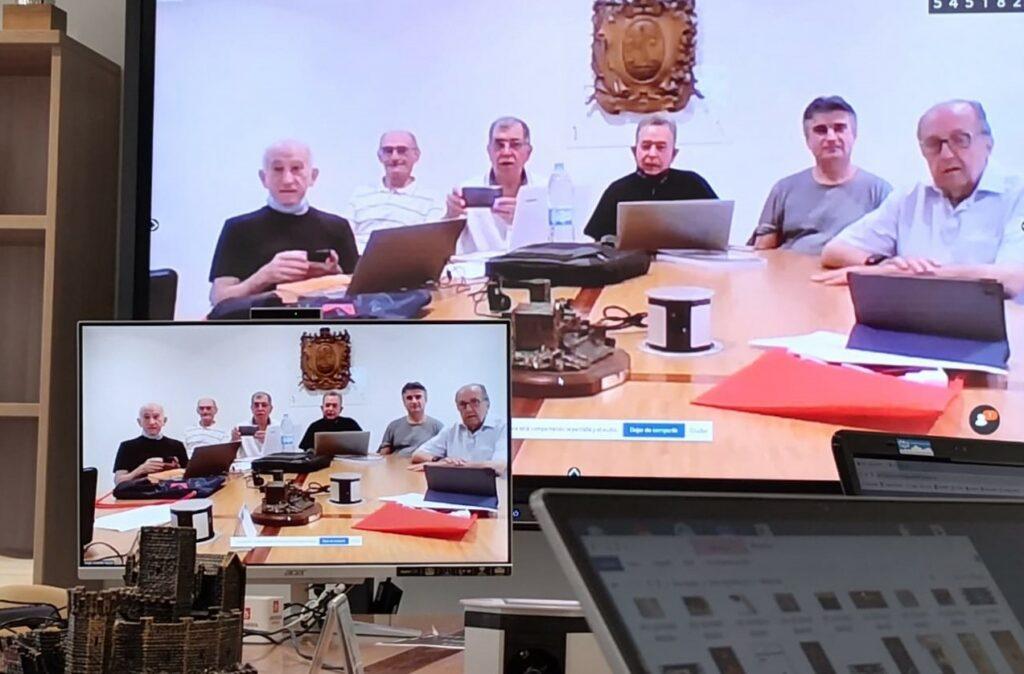 Equipo de voluntarios de la formación online de 2021 conectados desde Salesianos Pamplona